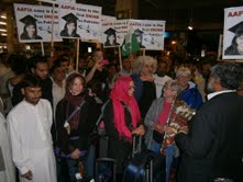 Joe Lombardo and others greeted by the Free Aafia movement in Pakistan